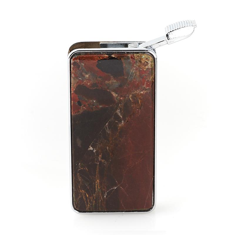 Зажигалка яшма уральская (биж. сплав) 6х3 см