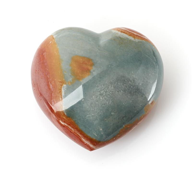 Сердечко яшма пестроцветная Мадагаскар 6,5 см