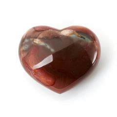 Сердечко яшма пестроцветная Мадагаскар 7 см