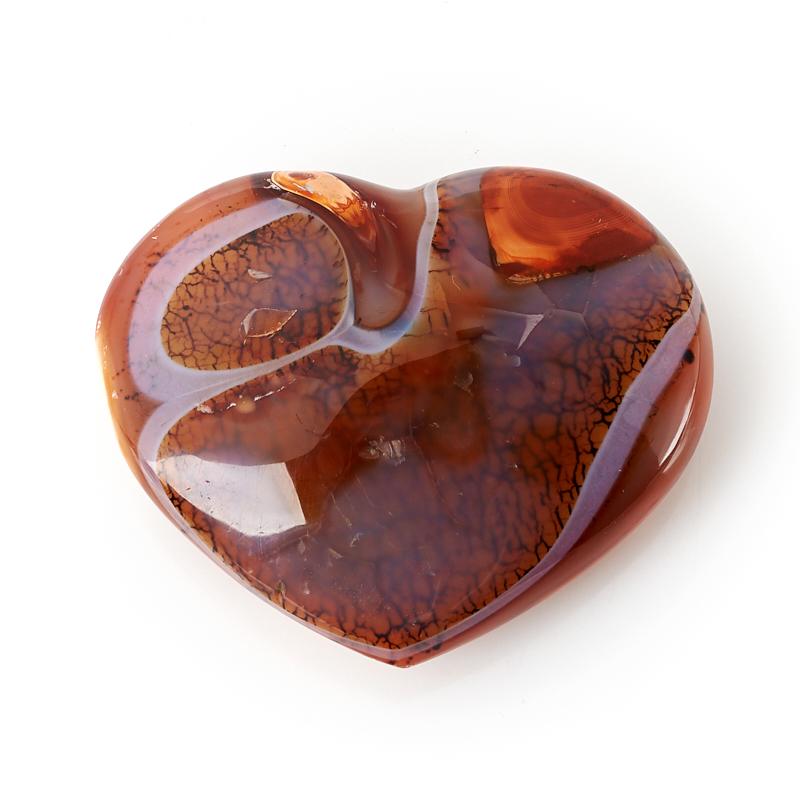 Сердечко сердолик Мадагаскар 7 см