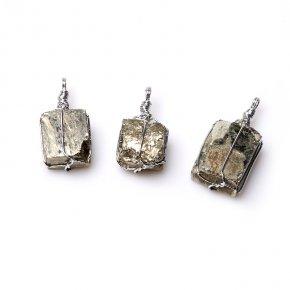 Кулон пирит Перу (биж. сплав) кристалл 3-4 см