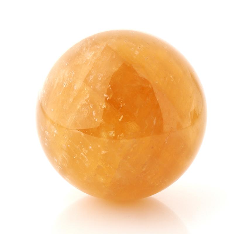 Шар кальцит желтый 8,5 см
