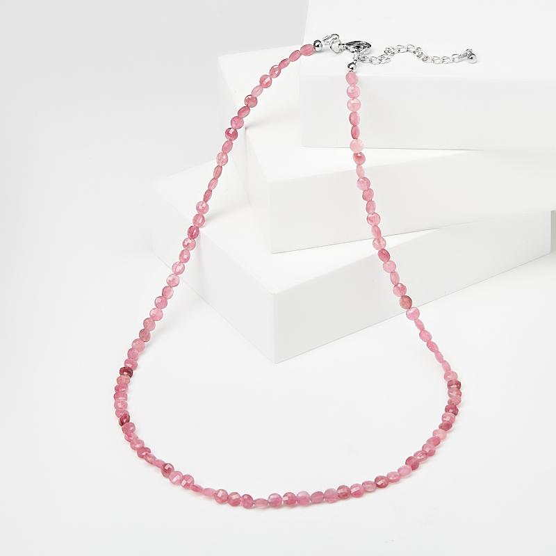 Бусы турмалин розовый (рубеллит) (биж. сплав) огранка 4 мм 40 см (+5 см) бусы опал желтый огранка 3 5 мм 44 51 см биж сплав