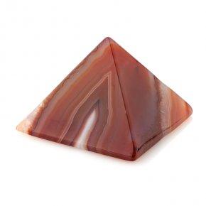 Пирамида агат серый Ботсвана 5 см