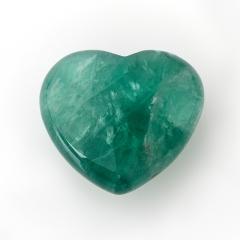 Сердечко флюорит зеленый 4,5 см