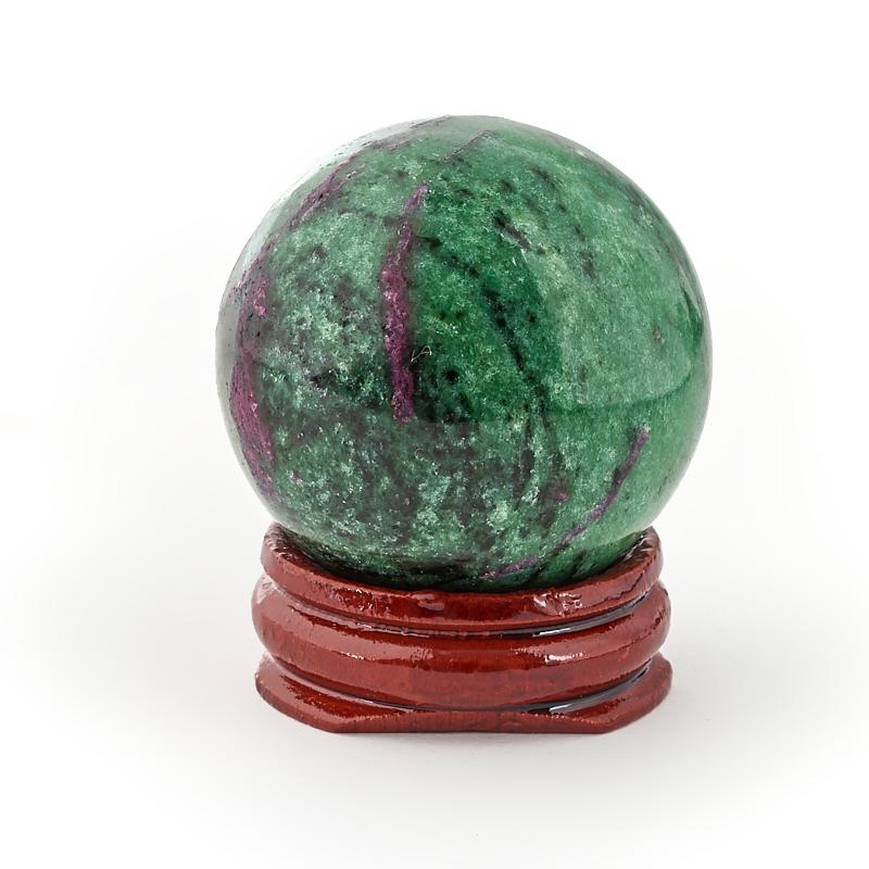 Шар корунд в цоизите (на подставке) 4 см