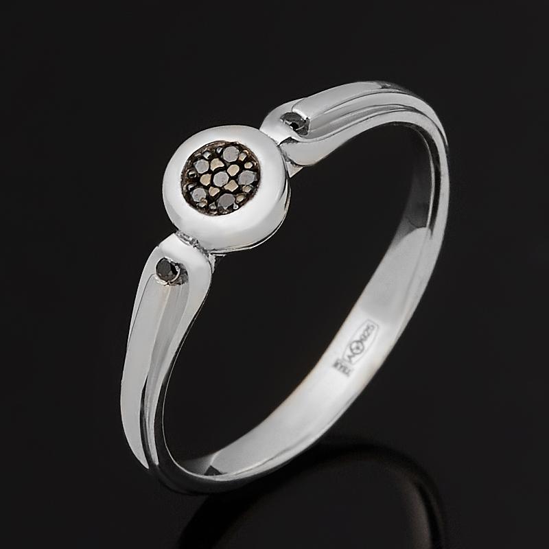 Кольцо бриллиант Россия (серебро 925 пр. родир. бел.) огранка размер 17