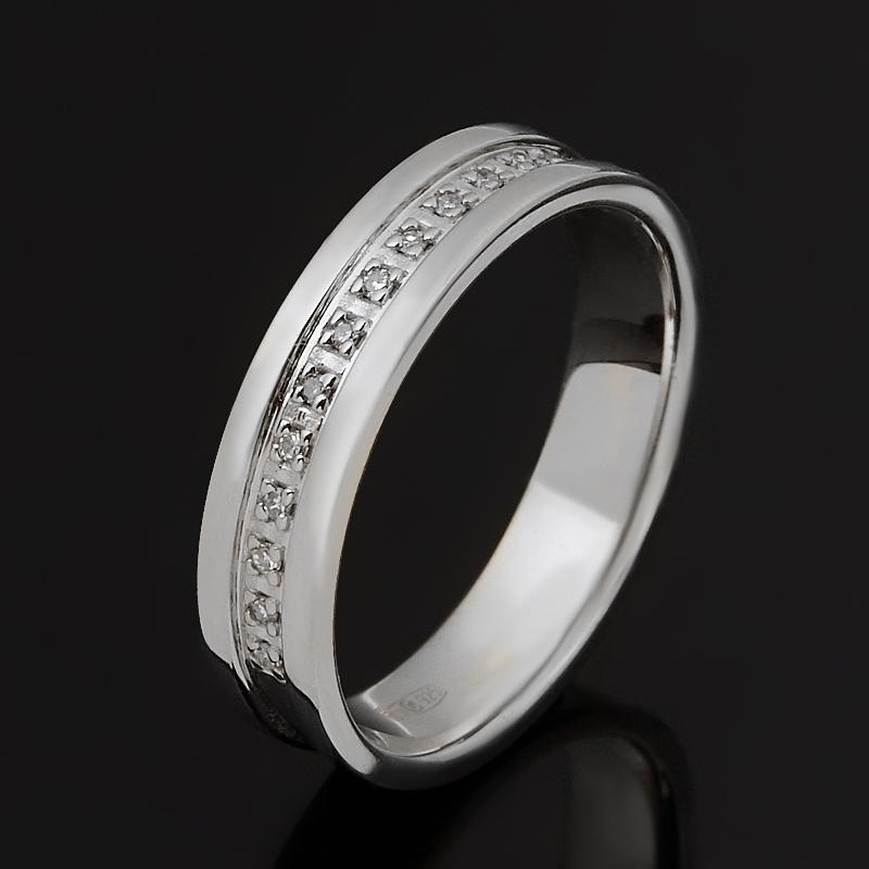 Кольцо бриллиант Россия (серебро 925 пр. родир. бел.) огранка (обручальное) размер 19
