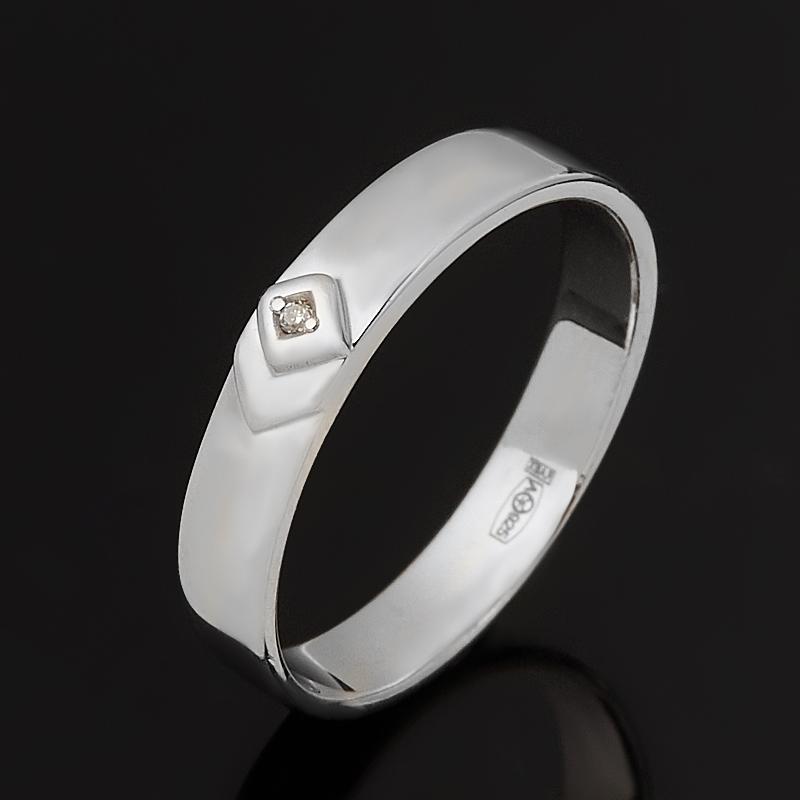 Кольцо бриллиант Россия (серебро 925 пр. родир. бел.) огранка (обручальное) размер 20