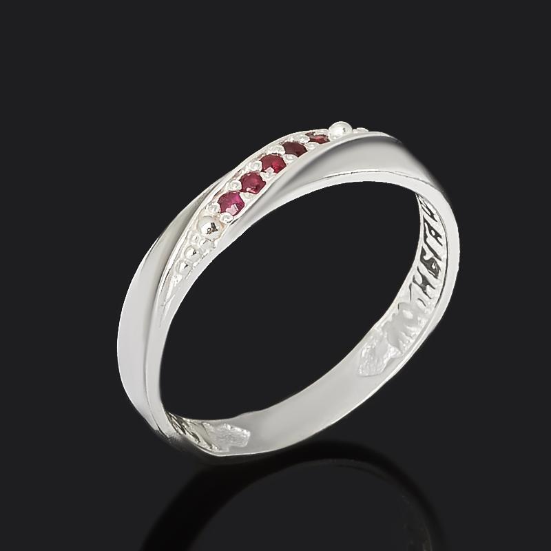 Кольцо Сохрани и спаси рубин Мьянма (серебро 925 пр. оксидир.) огранка размер 17