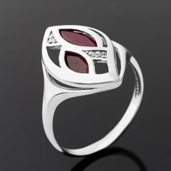 Кольцо рубин Мьянма (серебро 925 пр. родир. бел.) огранка размер 17