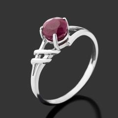 Кольцо рубин Мьянма (серебро 925 пр. родир. бел.) огранка размер 18,5