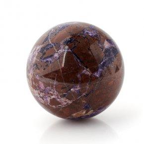 Шар микс песчаник, флюорит 7 см