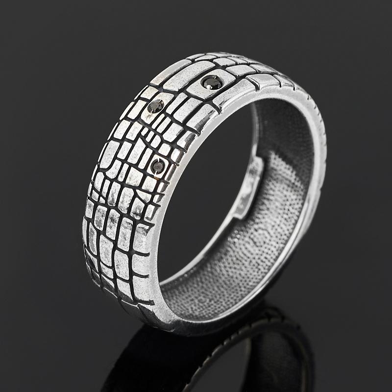 Кольцо бриллиант Россия (серебро 925 пр. родир. бел.) размер 16,5