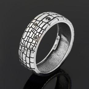 Кольцо бриллиант Россия (серебро 925 пр. родир. бел.) размер 19