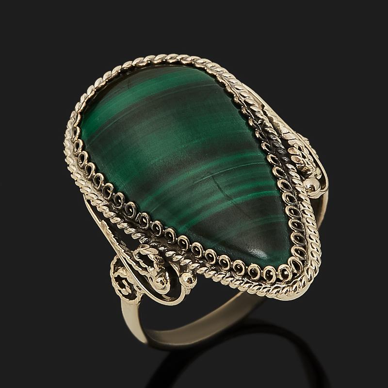 Кольцо малахит (нейзильбер) размер 19,5 кольцо дарья им малахит page 1