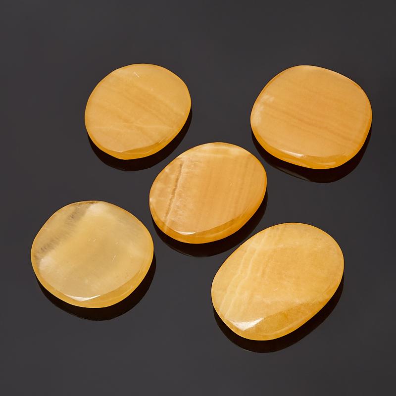 Галтовка кальцит желтый S (4-7 см) (1 шт) образец кальцит оптический желтый xs 3 4 см 1 шт