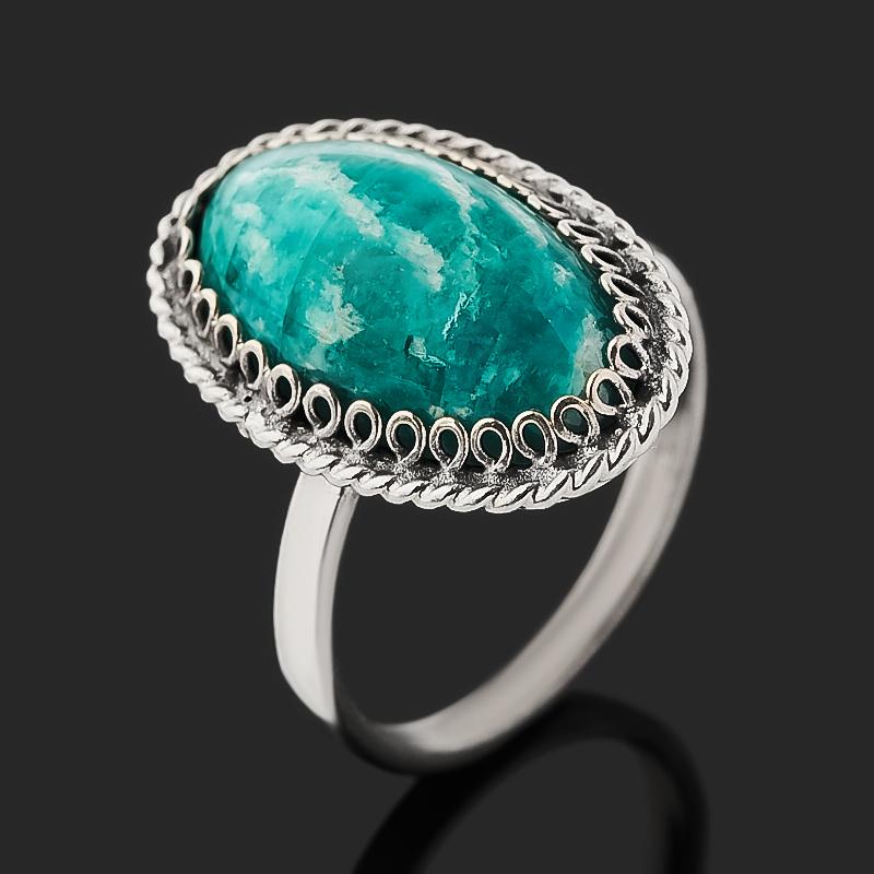 Кольцо амазонит (нейзильбер) размер 16