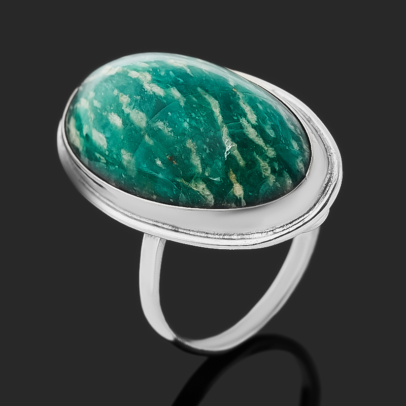 Кольцо амазонит (нейзильбер) размер 18,5