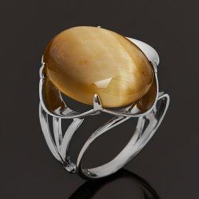 Кольцо тигровый глаз ЮАР (серебро 925 пр.) размер 17