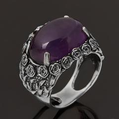 Кольцо аметист Бразилия (серебро 925 пр. оксидир.) размер 17,5