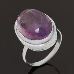 Кольцо аметист Бразилия (серебро 925 пр. оксидир.) размер 18