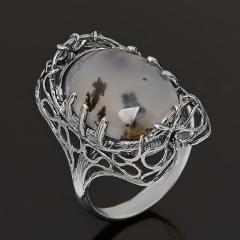 Кольцо агат пейзажный Казахстан (серебро 925 пр. оксидир.) размер 18,5