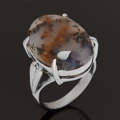 Кольцо агат пейзажный Казахстан (серебро 925 пр.) размер 17,5