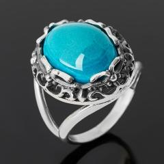 Кольцо хризоколла Казахстан (серебро 925 пр. оксидир.) размер 17,5