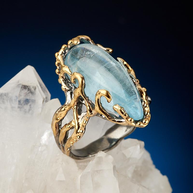 Кольцо аквамарин (серебро 925 пр. родир. сер. позолота) размер 18 кольцо опал розовый серебро 925 пр позолота родир сер размер 18