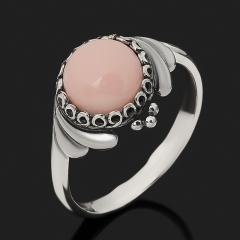 Кольцо опал розовый Перу (серебро 925 пр. оксидир.) размер 17,5