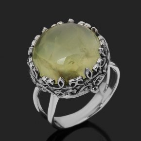 Кольцо пренит Мали (серебро 925 пр. оксидир.) размер 17,5