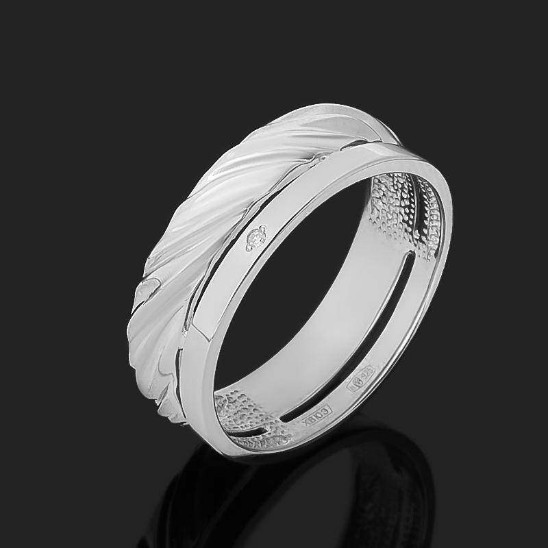 Кольцо бриллиант Россия (серебро 925 пр. родир. бел.) огранка размер 17,5