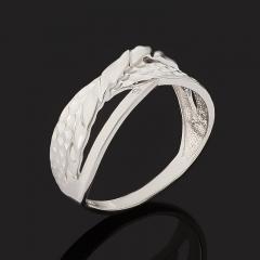 Кольцо бриллиант Россия (серебро 925 пр. родир. бел.) огранка размер 18