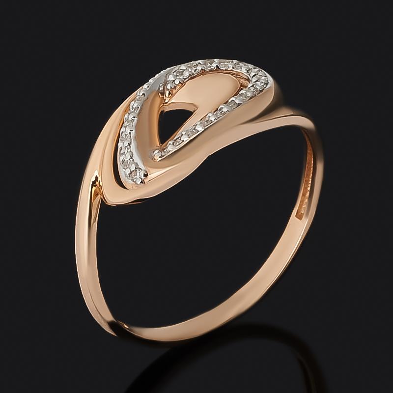 Кольцо бриллиант Россия (золото 585 пр. родир. бел.) огранка размер 15,5
