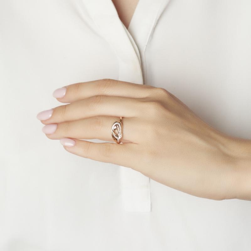 Кольцо бриллиант Россия (золото 585 пр. родир. бел.) огранка размер 18