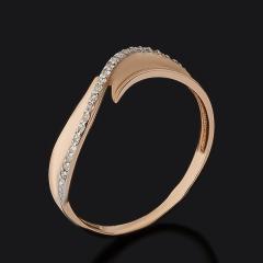 Кольцо бриллиант Россия (золото 585 пр.) огранка размер 17,5