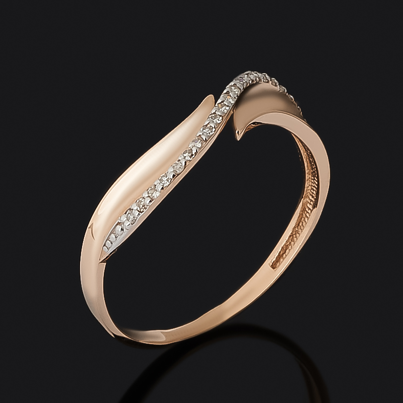 Кольцо бриллиант Россия (золото 585 пр.) огранка размер 15