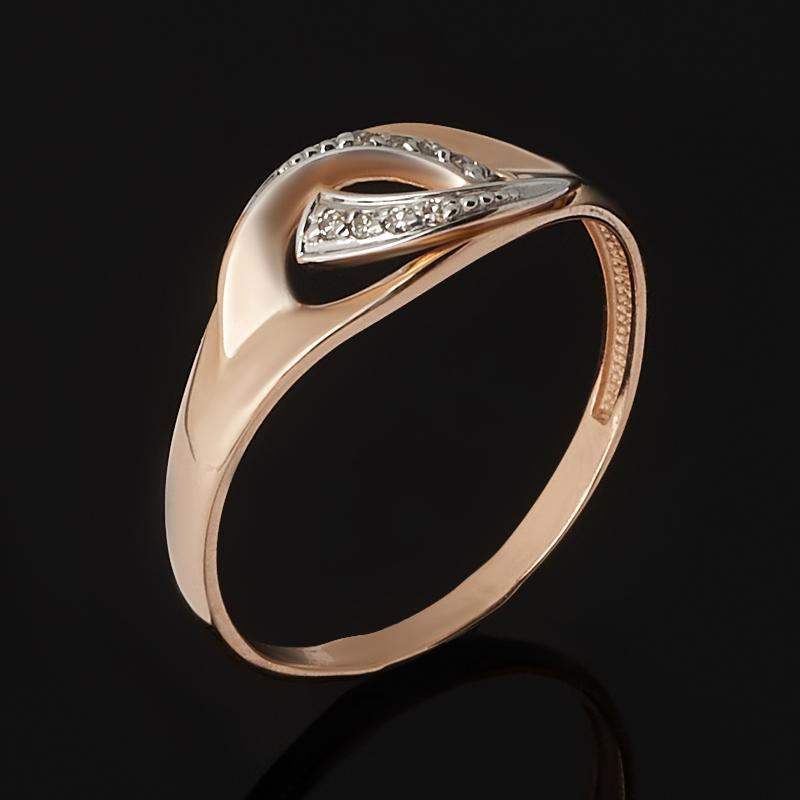 Кольцо бриллиант Россия (золото 585 пр. родир. бел.) огранка размер 14,5
