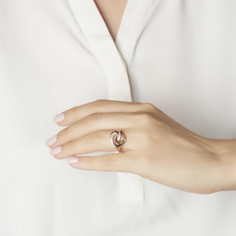 Кольцо бриллиант Россия (золото 585 пр. родир. бел.) огранка размер 15