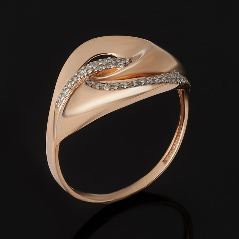 Кольцо бриллиант Россия (золото 585 пр. родир. бел.) огранка размер 17,5
