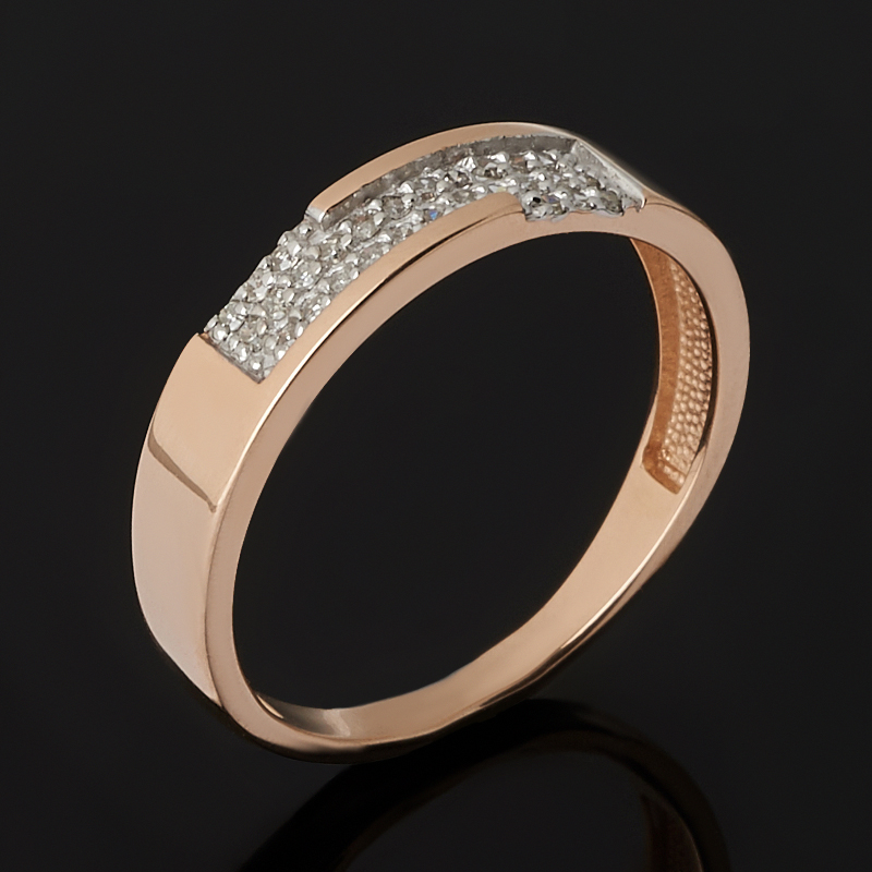 Кольцо бриллиант Россия (золото 585 пр. родир. бел.) огранка (обручальное) размер 14,5