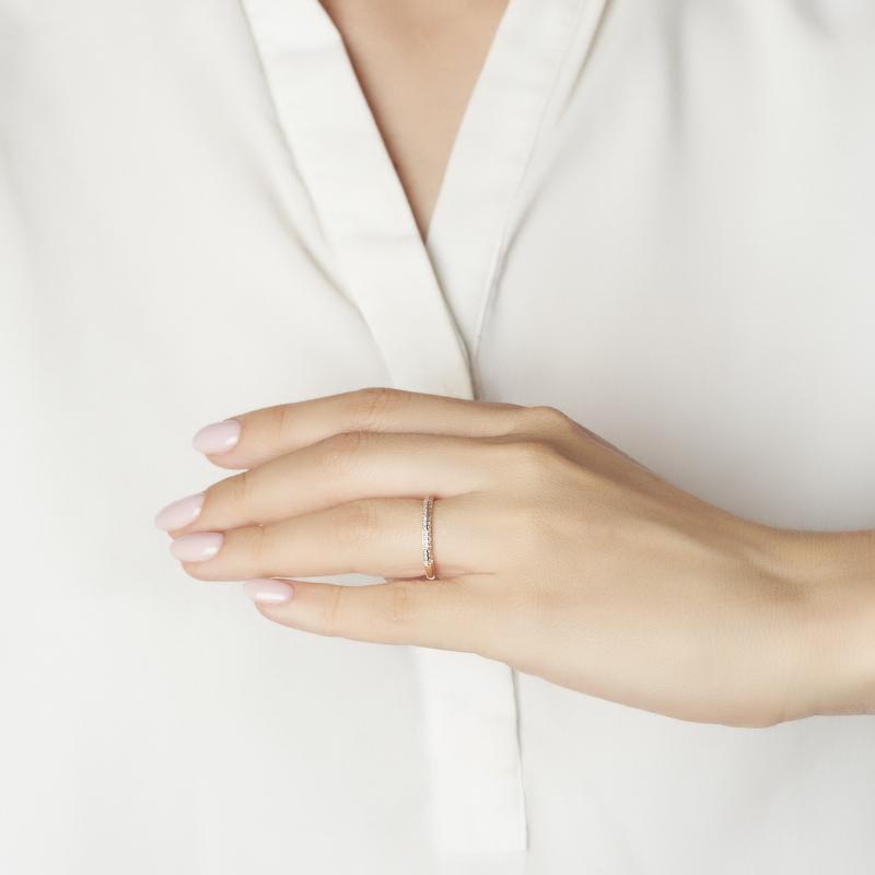 Кольцо бриллиант Россия (золото 585 пр. родир. бел.) огранка (обручальное) размер 19,5