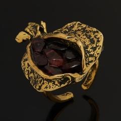 Кольцо гранат альмандин Индия (бронза) (регулируемый) размер 18,5