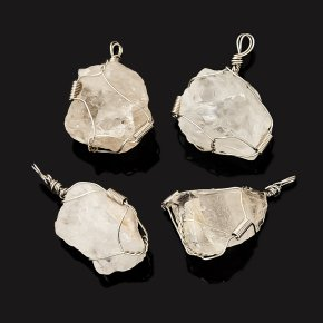 Кулон горный хрусталь Бразилия (биж. сплав) кристалл 4-4,5 см