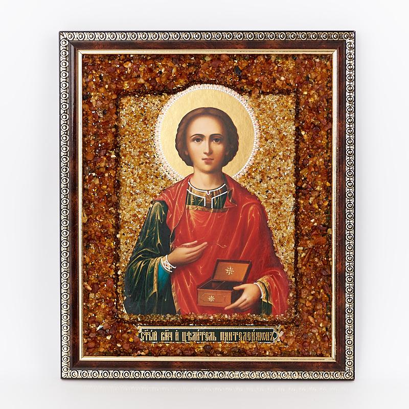 Фото - Изображение янтарь Пантелеймон Целитель 20х24 см изображение янтарь богоматерь владимирская 13х16 см