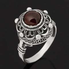 Кольцо гранат альмандин Индия (серебро 925 пр. оксидир.) размер 17,5