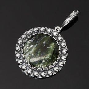 Кулон клинохлор (серафинит) Россия (серебро 925 пр. оксидир.)