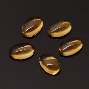 Кабошон цитрин Бразилия (1 шт) 8*12 мм