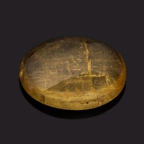 Кабошон турмалин желтый (дравит) Бразилия 7*9 мм